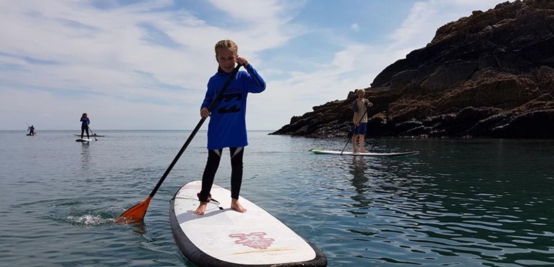 Paddle Boarding For Children In Pembrokeshire