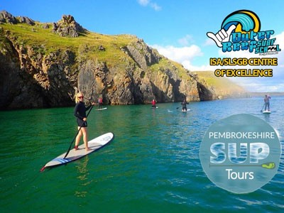 Paddle Boarding In Pembrokeshire, Wales