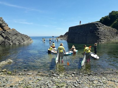 Paddle Boarding Lessons In Pembrokeshire, Wales