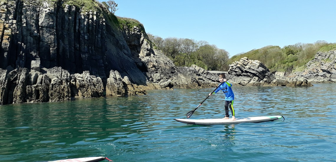 Beginner Stand Up Paddle Boarding Lessons In Pembrokeshire