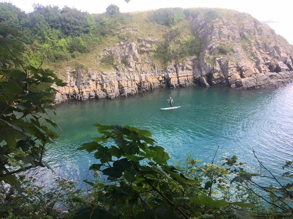 Paddle boarding in Pembrokeshire