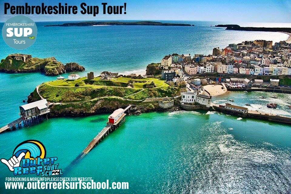 Surfing and Paddle boarding in Tenby Pembrokeshire
